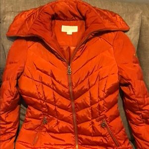 Michael Michael Kors Orange puff coat